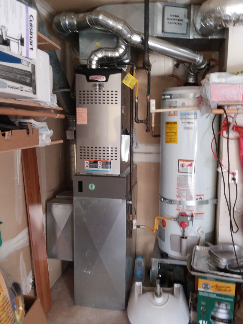 Mukilteo, WA - Just finished installing a Lennox 80% 2-stage furnace for customers in Mukilteo happy to have more efficient heating system installed in their home