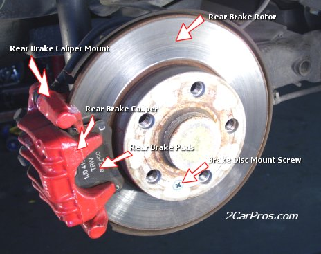 Lillian, AL - Right rear caliper on a 2003 GMC-Siera 2500 HD.