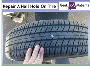 Tire patch on a 2010 Nissan-Altima