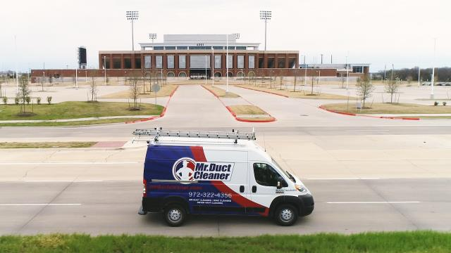 McKinney, TX - We cleaned one HVAC system and associated ductwork in this commercial space to reduce dust