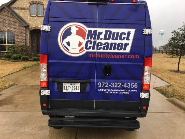 Cleaned air ducts supply and return