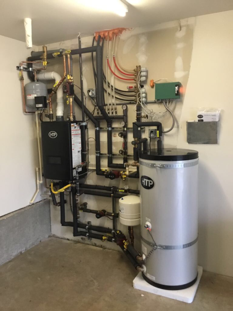 Edmonds, WA - Performing an Annual Maintenance for a boiler in Edmonds this morning, now all their zones will continue heating and working properly.