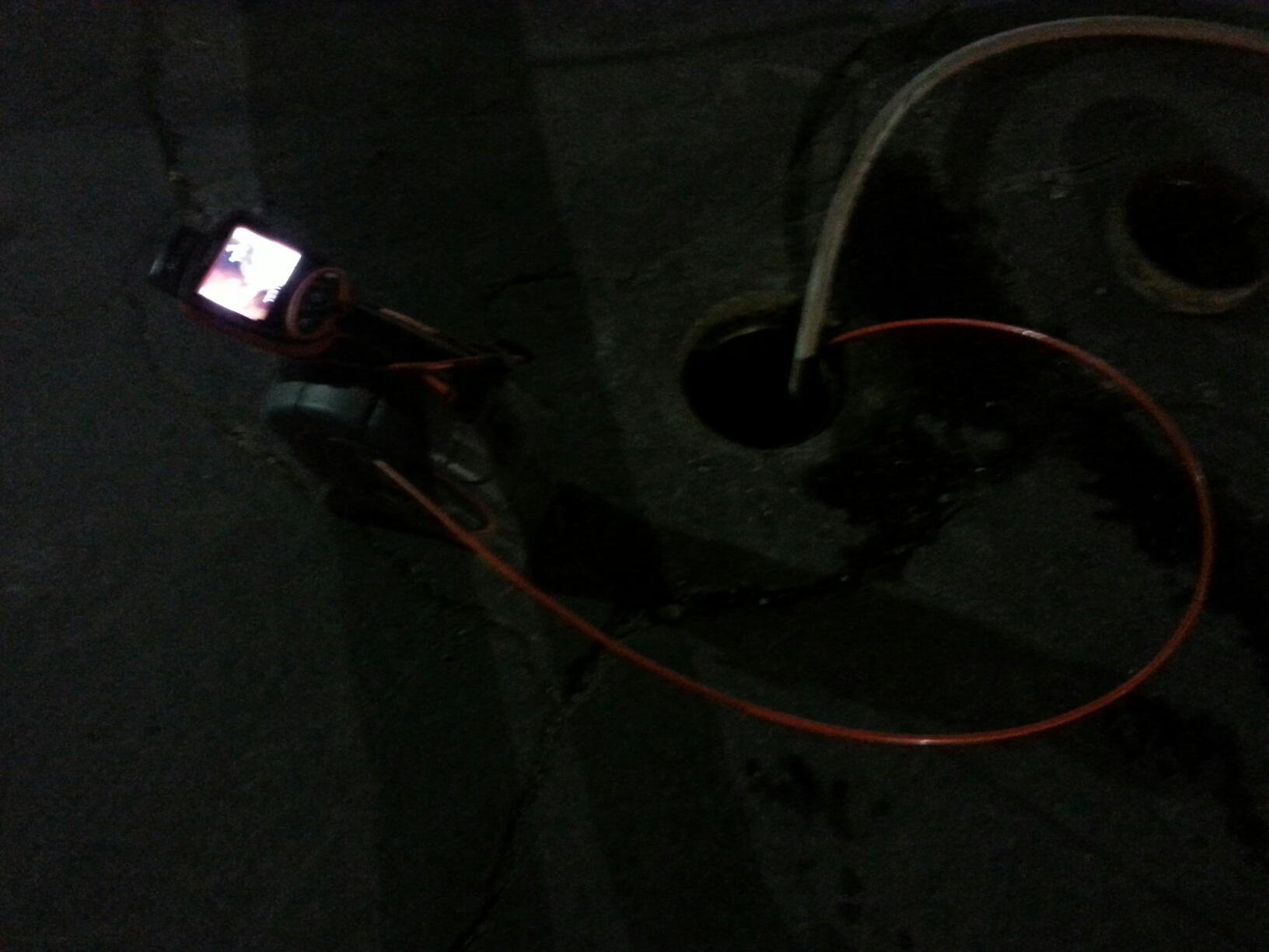 Rancho Cordova, CA - Checking a main sewer line for blocks using Camera and locator. Making sure water flows.