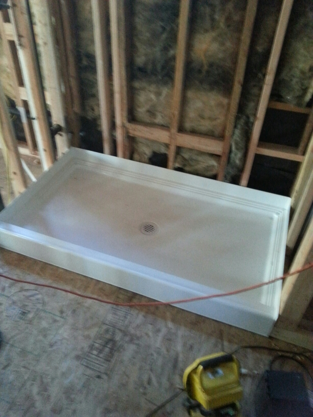 Loomis, CA - Loomis shower pan instal and gas line cap and full water lines insulated.