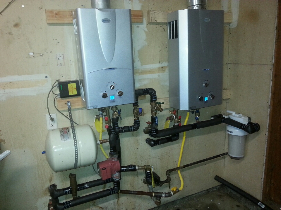 Davis, CA - Plumbing Davis. Davis plumbing. Set up operations for Marey tankless water heaters.
