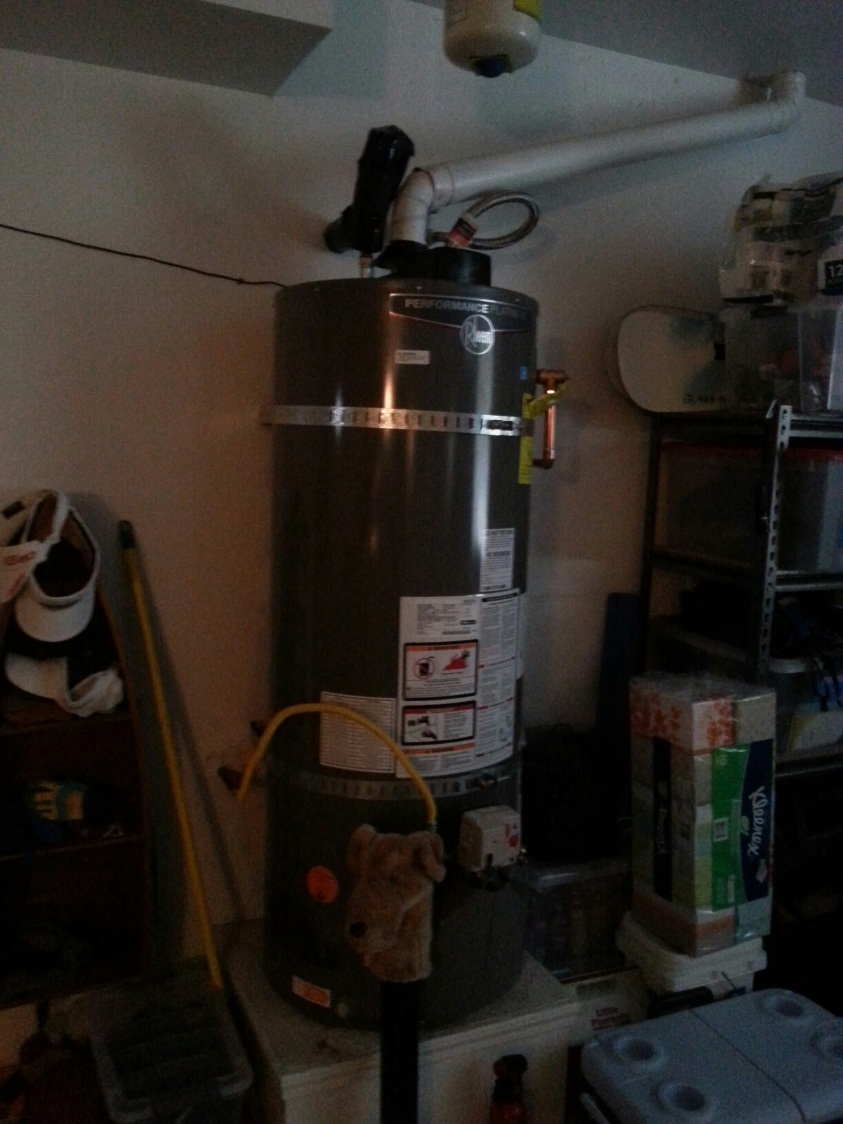 Folsom, CA - Water heater install in a Folsom home.plumb in new code up grades.