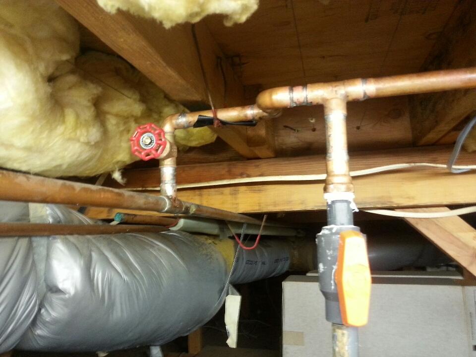 Loomis, CA - Plumbing Newcastle. Newcastle plumbing. Copper water supply line repair