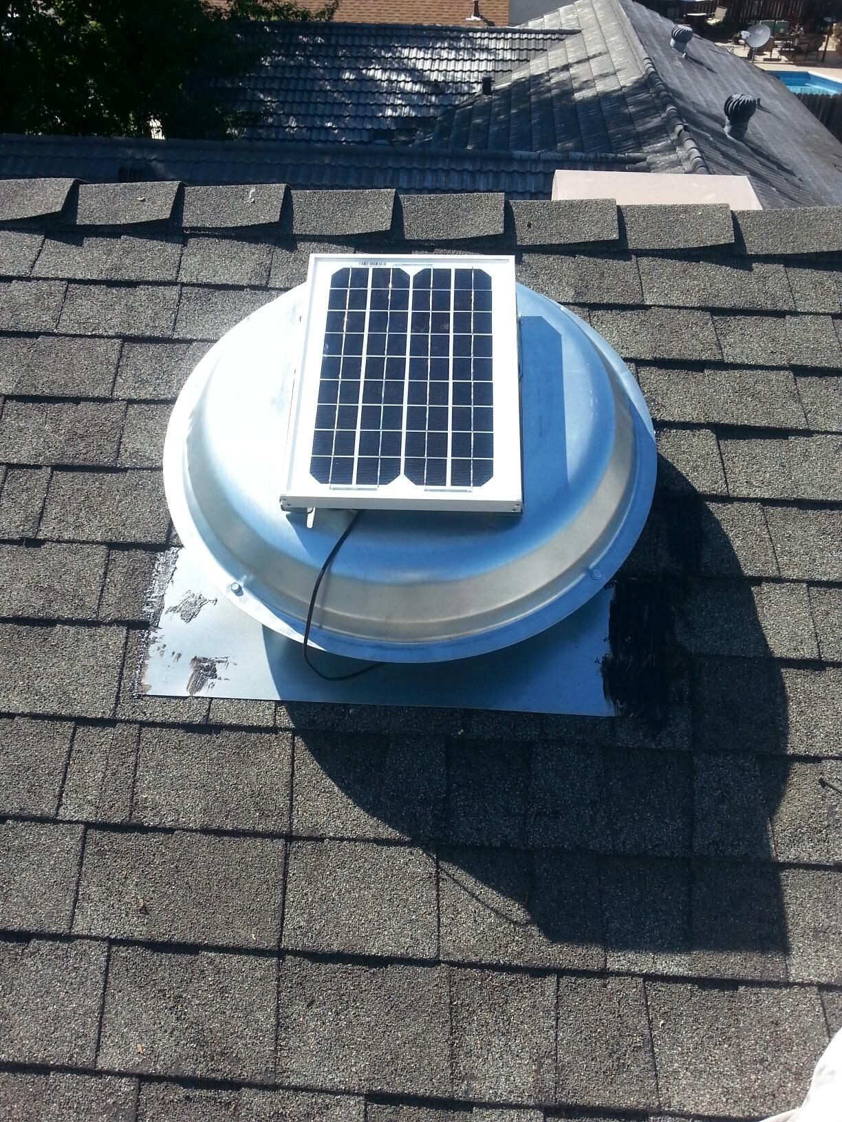 Rancho Cordova, CA - Rancho Cordova solar attic fan installation