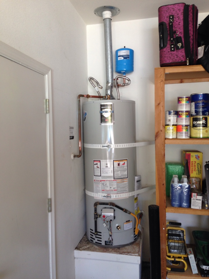 Granite Bay, CA - Water heater replacement.    50 gallon water heater.   Granite Bay