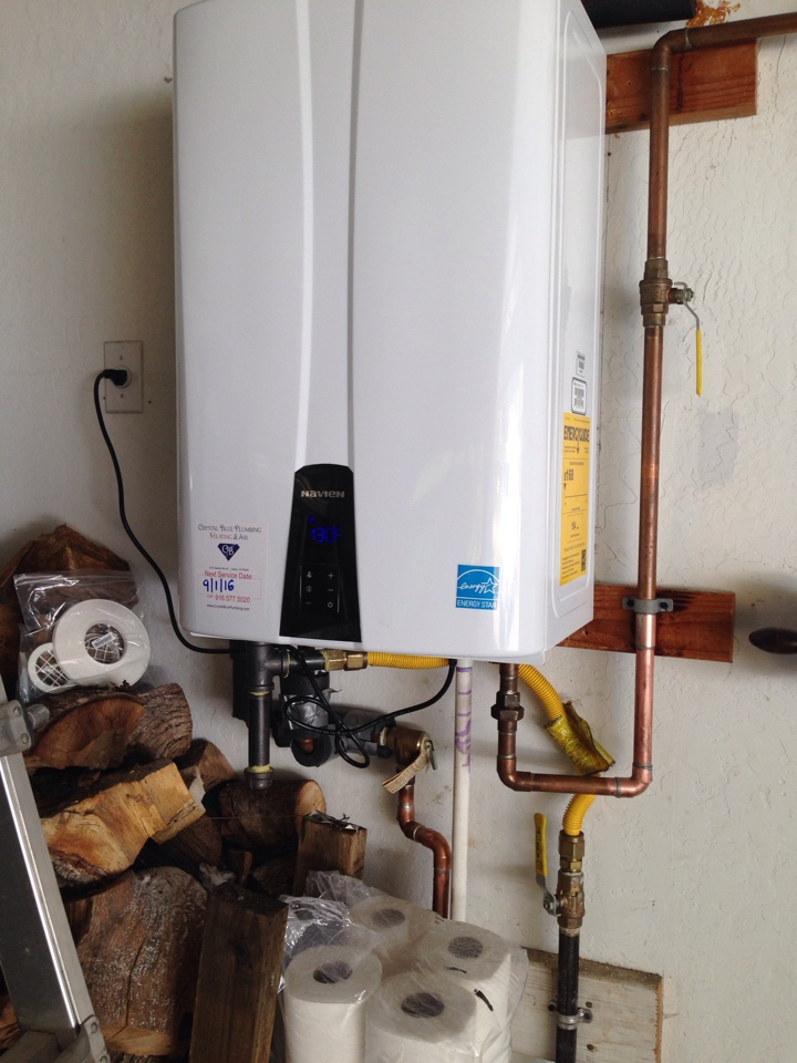 Grass Valley, CA - Tankless water heater install. Grass Valley plumbers. Grass Valley.