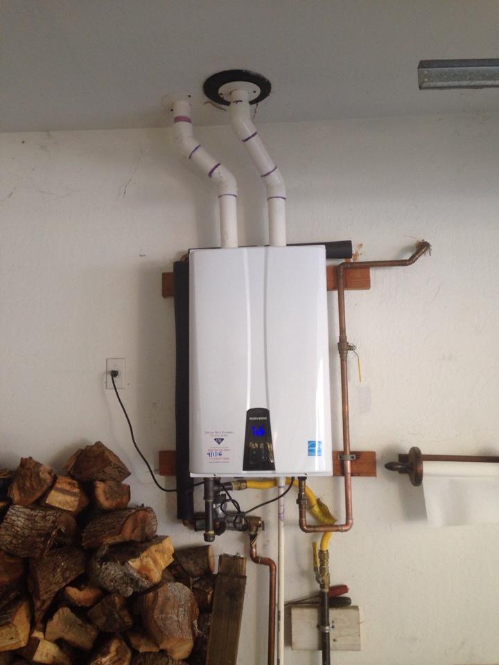 Grass Valley, CA - Tankless water heater. Grass Valley plumbing. Grass Valley