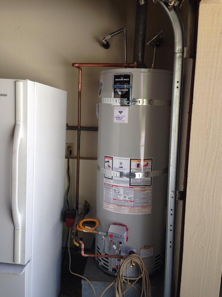 Colfax, CA - Water heater replacement. Colfax plumbing. Colfax