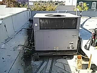 Newcastle, CA - Repair of heating AC system Payne package unit replacement of condenser fan motor