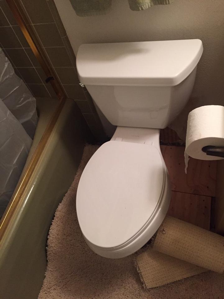 Loomis, CA - Loomis plumbing repair. Two new toilets. Dryrot wood. Heater repair