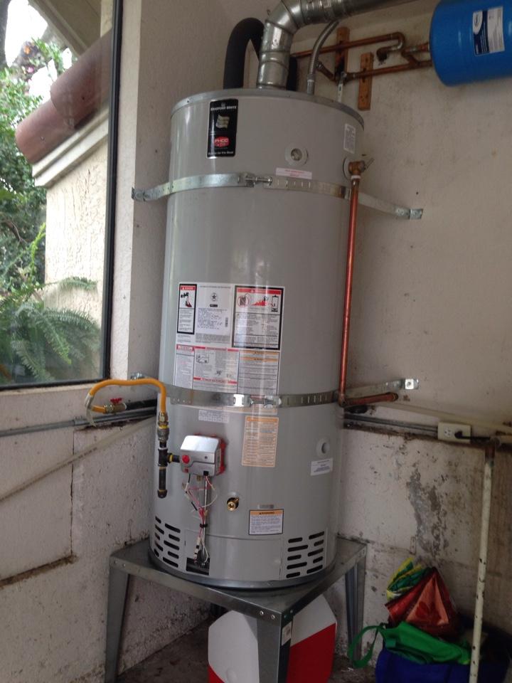 Newcastle, CA - Water heater repairs/ gas valve replacement. Newcastle plumbing. Newcastle