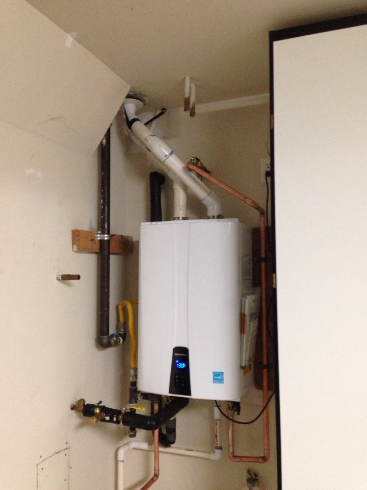 Tankless water heater install. Gold River plumbing. Gold River