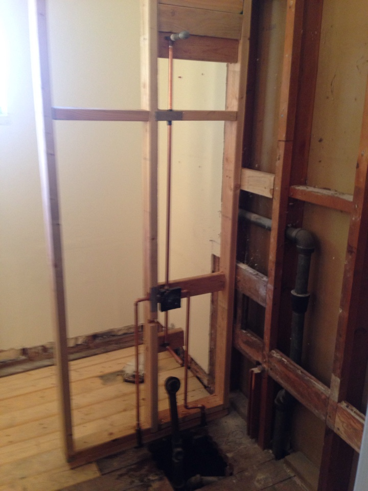 Carmichael, CA - Shower valve install. Bathroom remodel. Carmichael plumbing. Carmichael