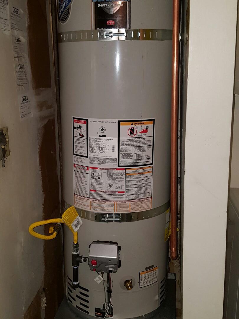 Rocklin, CA - Plumbing Rocklin install Bradford White 40 gallon natural gas water heater