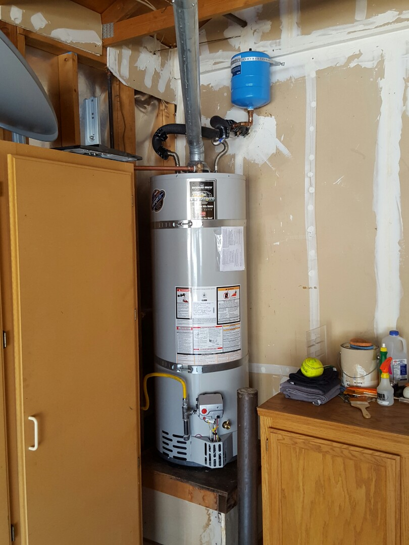 Folsom, CA - Plumbing Folsom install 40 gallon Bradford White Natural Gas water heater