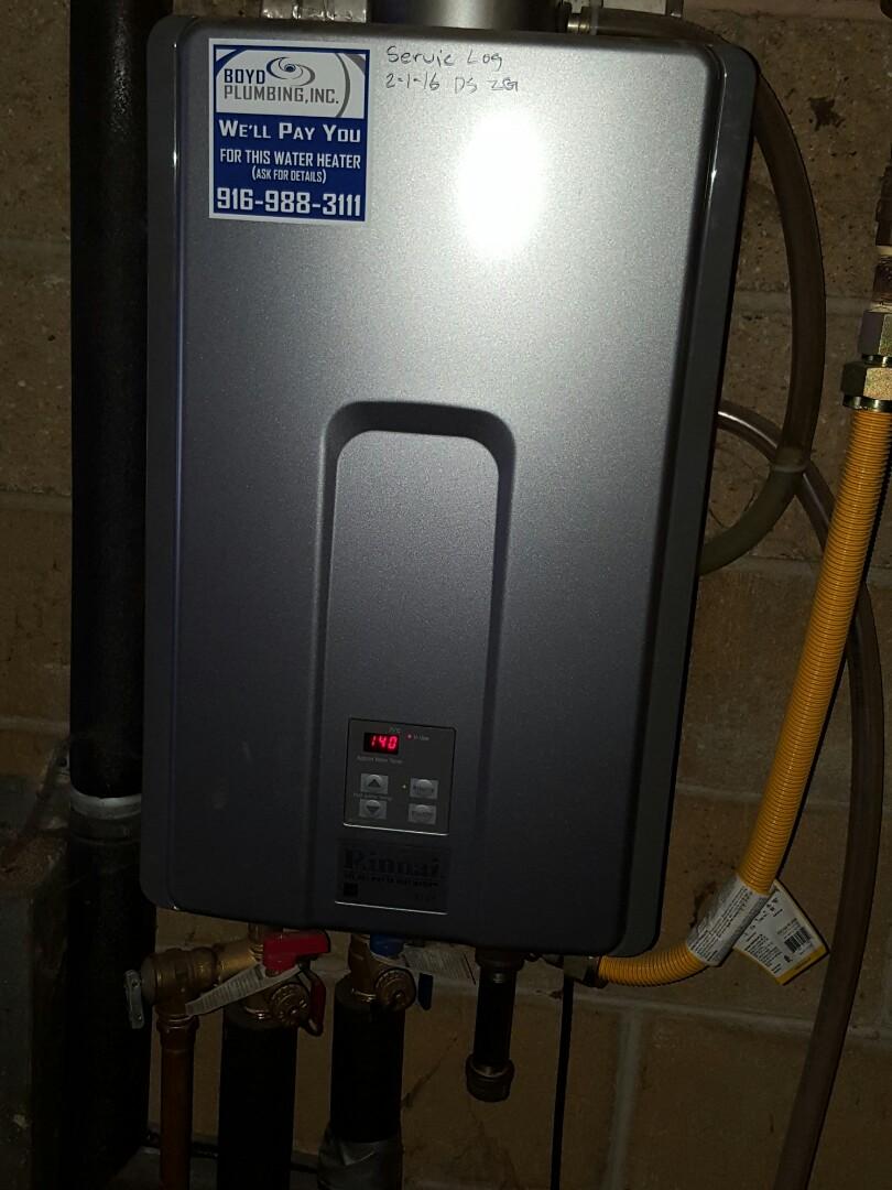 Fair Oaks, CA - Plumbing loomis install rinnai tankless water heater