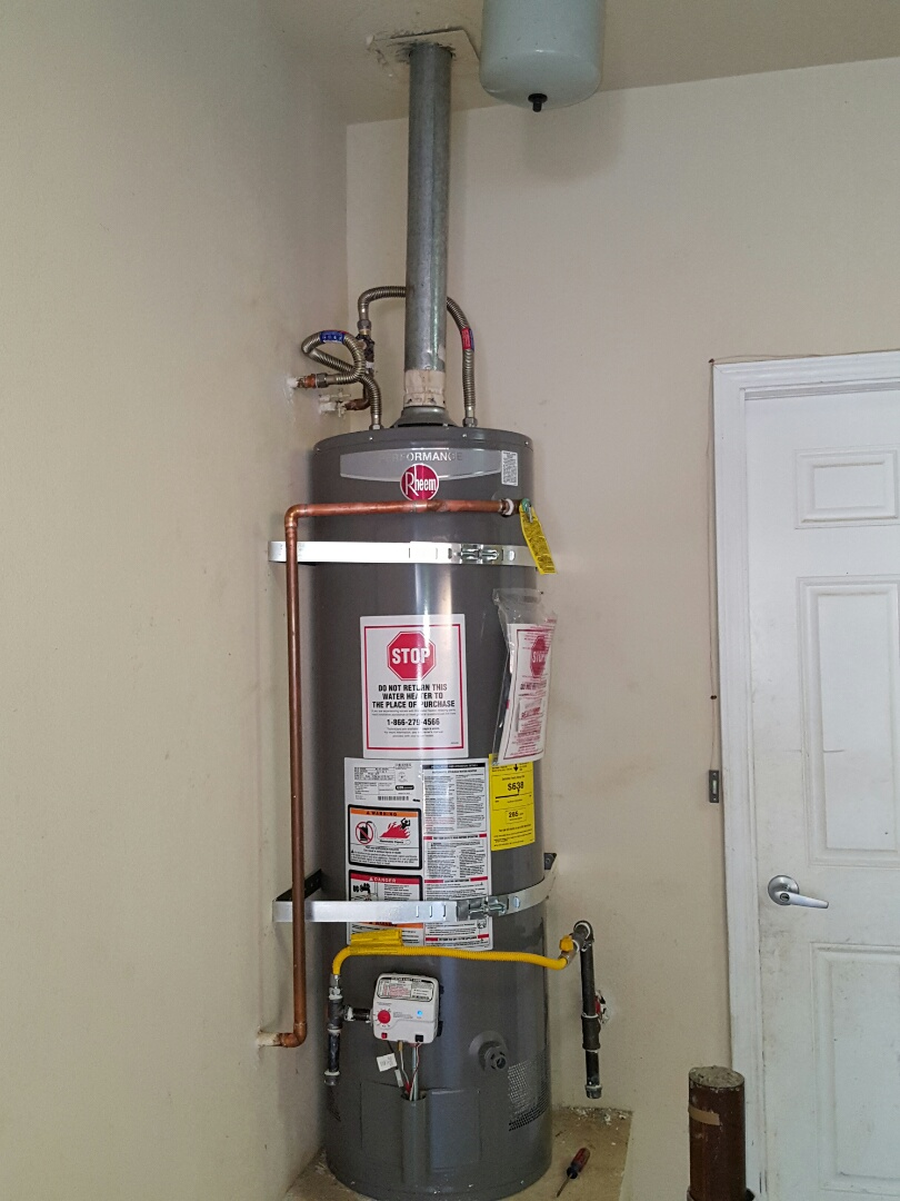 Granite Bay, CA - Plumbing auburn installed 40gallon propane water heater