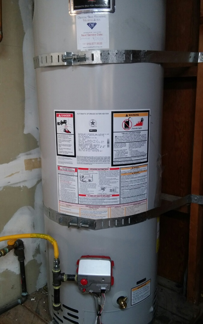 40 gallon gas water heater install