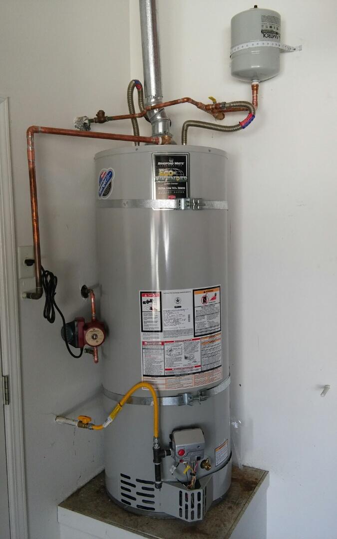 Rocklin, CA - 50 gallon natural gas and 3rd circ pump install  Rocklin cal