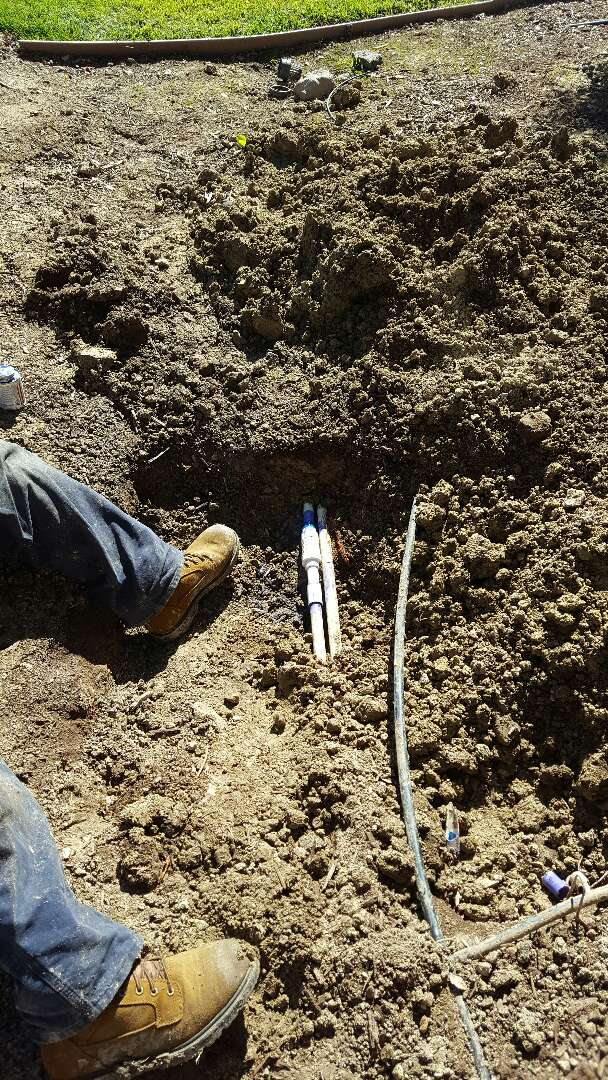 Lincoln, CA - Lincoln. Main line water and irrigation line repair