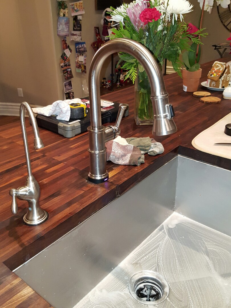Granite Bay, CA - Plumbing Granite Bay install brizo sensor kitchen faucet