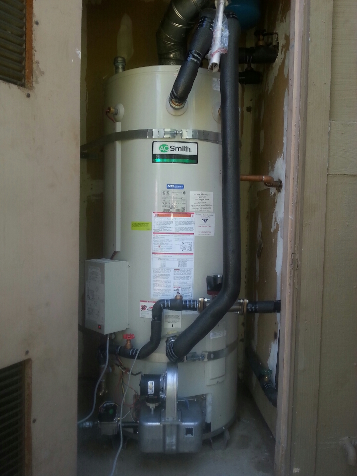 Orangevale, CA - Folsom plumbing. Plumbing Folsom. Troubleshoot 100 gallon commercial water heater.