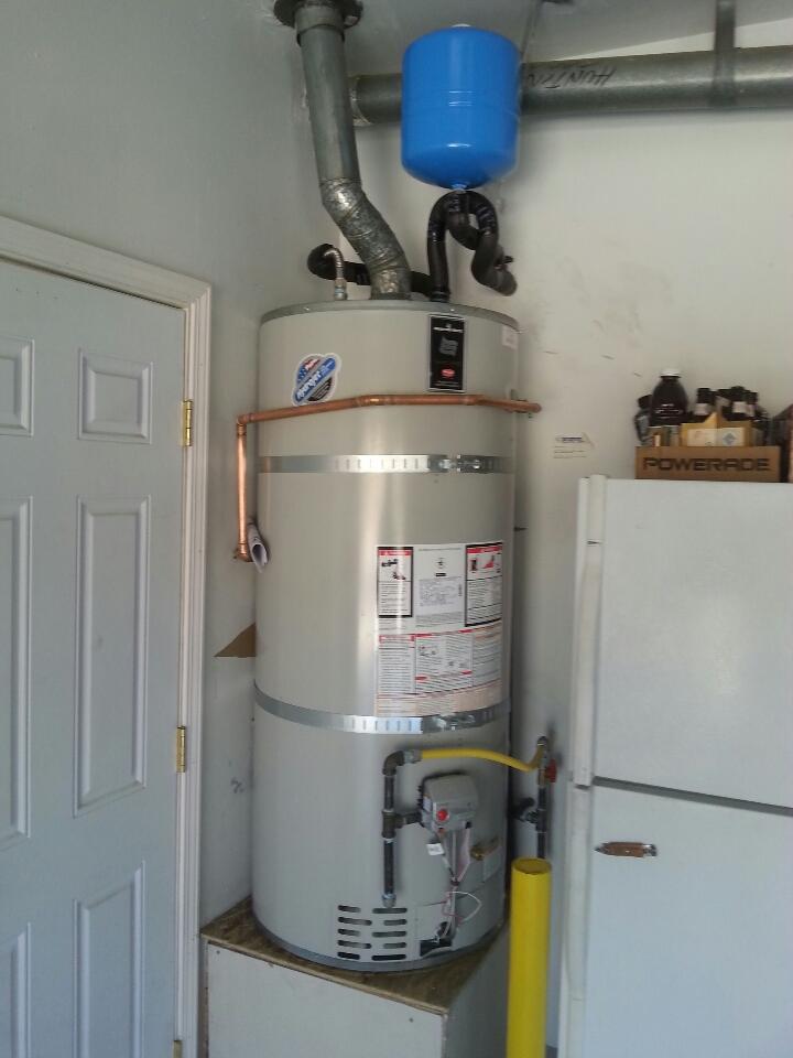 Orangevale, CA - Folsom plumbing. Plumbing Folsom. Estimate to install new 50 gallon natural gas water heater