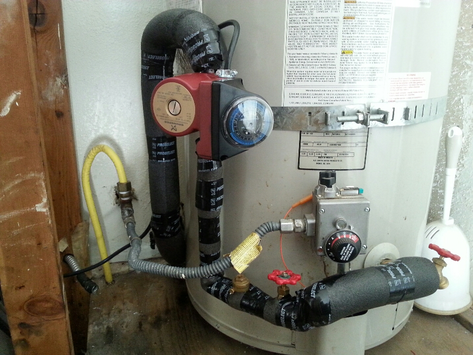 Loomis, CA - Plumbing Loomis. Loomis plumbing. Install new recirculation pump timer and check valve.