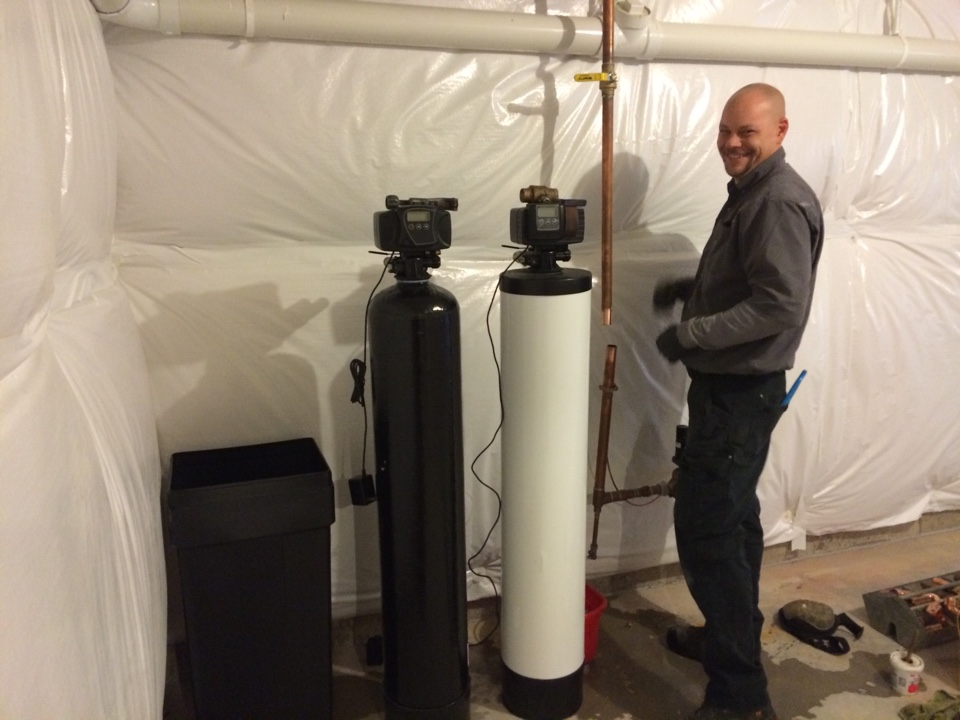 Elgin, IL - Installing whole house water conditioning system in the whole house water filteration system