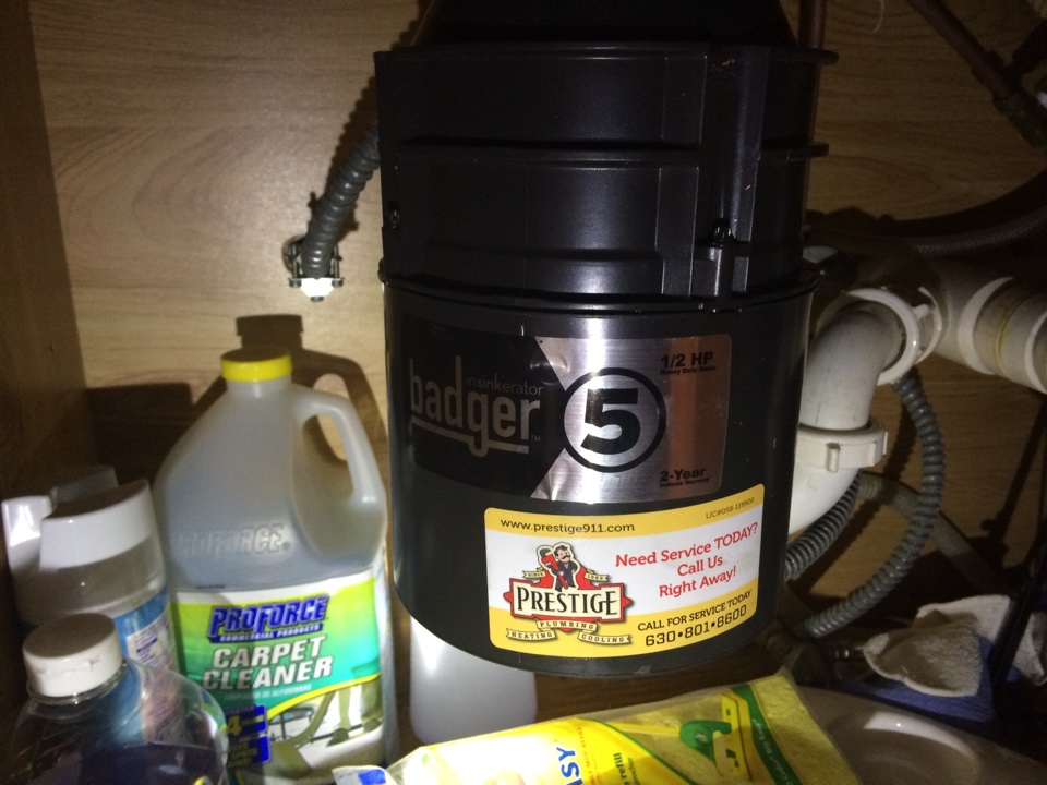 Lisle, IL - Installation of new garbage disposal system