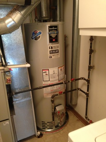 Lombard, IL - Installing a water heater!