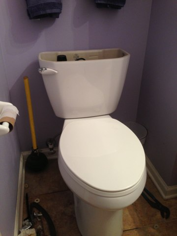 Downers Grove, IL - Resetting a toilet!