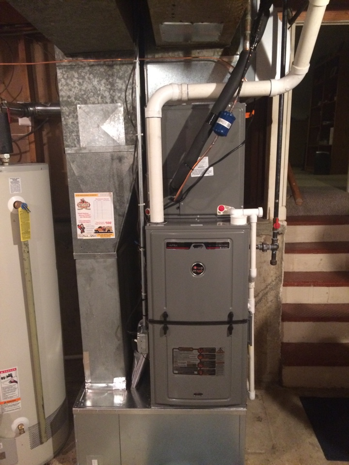 Downers Grove, IL - Installing 96% 2 stage Variable   Furnace and 16 SEER a/c system