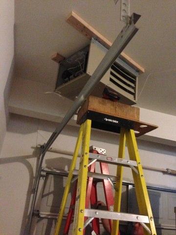 Lisle, IL - Install unit heater