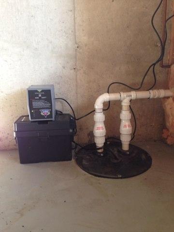 Lisle, IL - Installing a battery backup sump pump!
