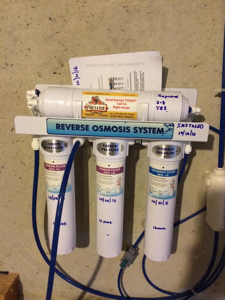 Batavia, IL - Installing new reverse osmosis system