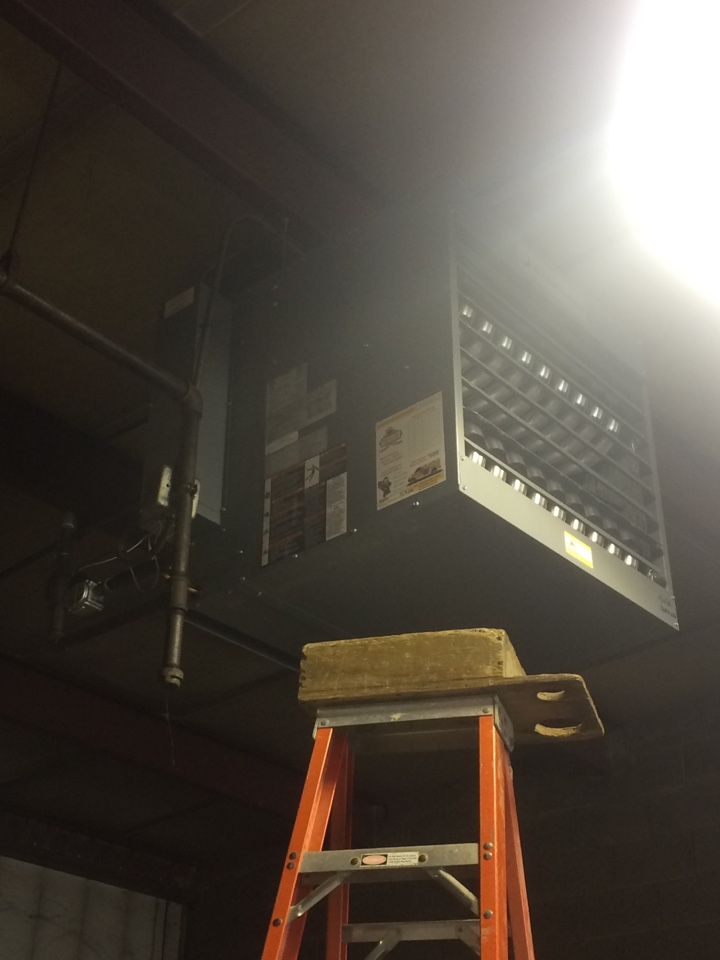 Aurora, IL - Installing new over head gas heater