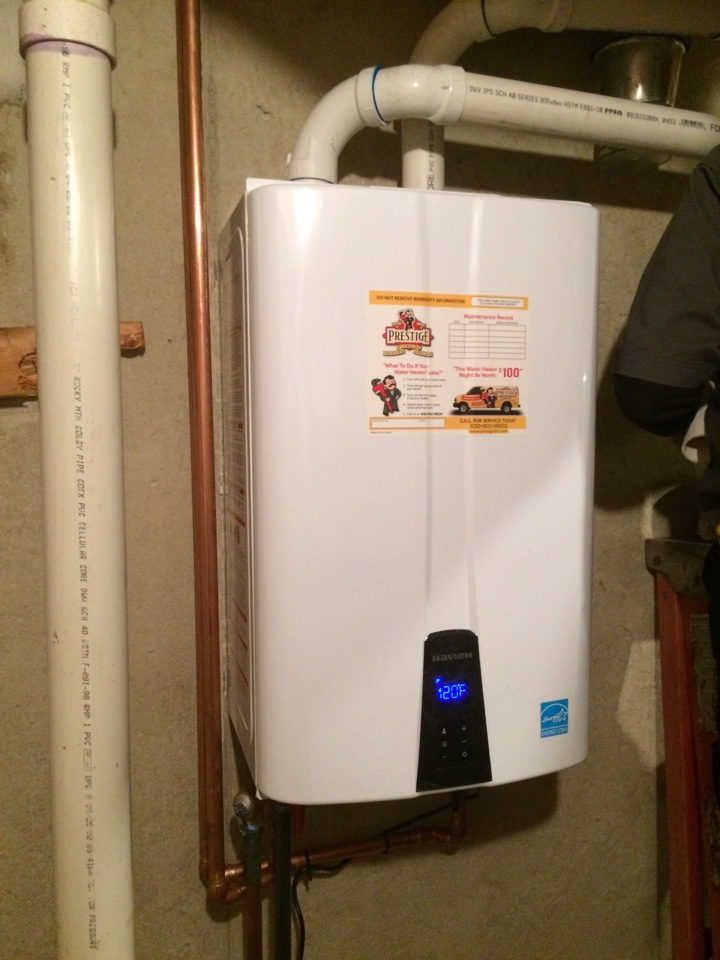 Aurora, IL - Installing new tankless water heater 96 % efficient