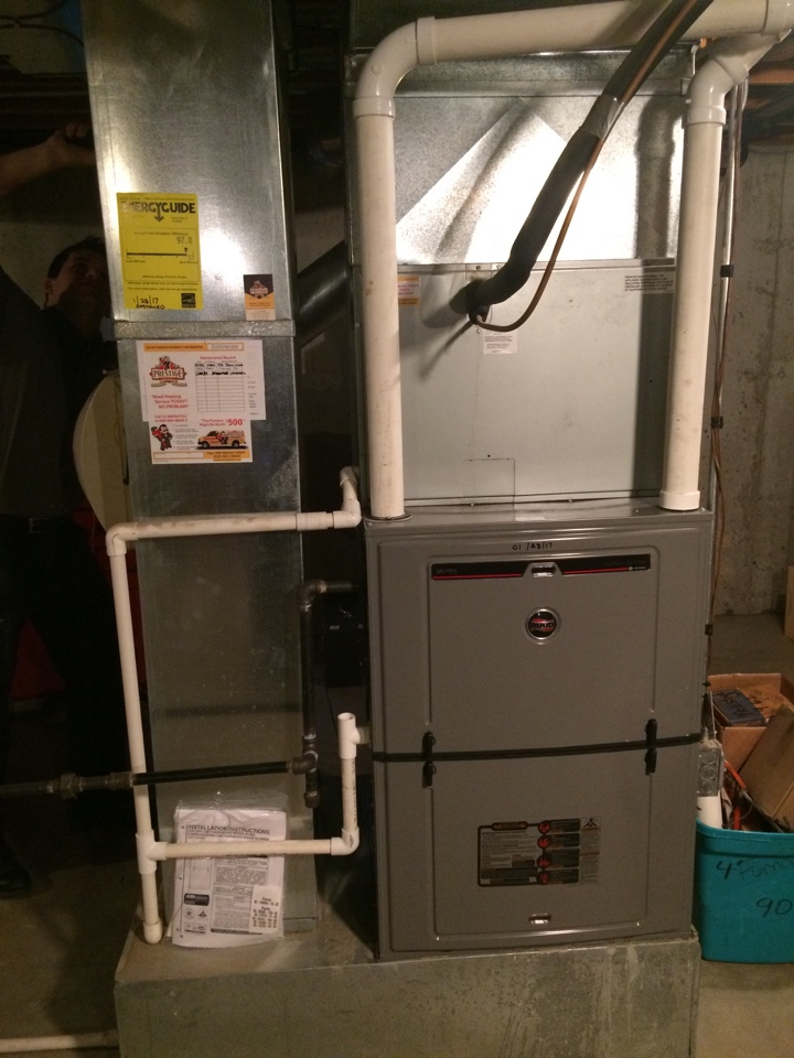 Aurora, IL - Installing new 97 % modulating variable speed furnace