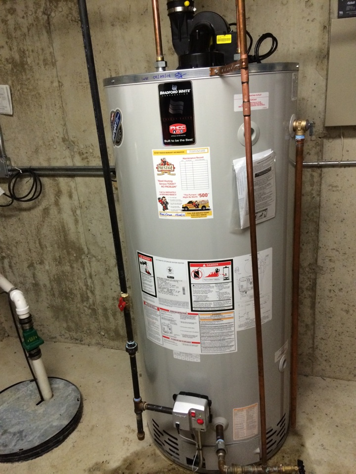 Hinsdale, IL - Installing a 75 gallon power vent water heater