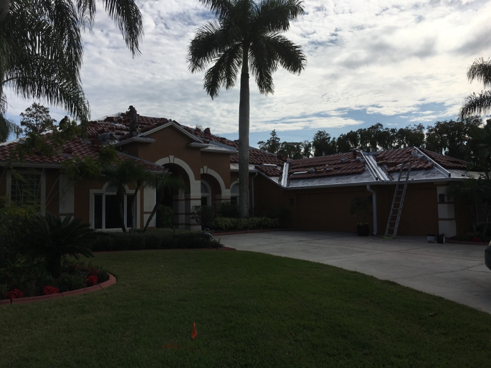 Land O' Lakes, FL - Tile re-roof performed in Land O Lakes. New Roof is beautiful Boral Barcelona 900 tile installed by the quality roofing company of Dynamic Roofing Concepts.