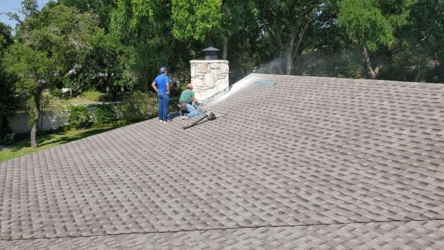 Georgetown, TX - Georgetown Texas. Roof Replacement. Roof Inspection. Insurance. Hail Damage. GAF Timberline HD Weathered Wood.