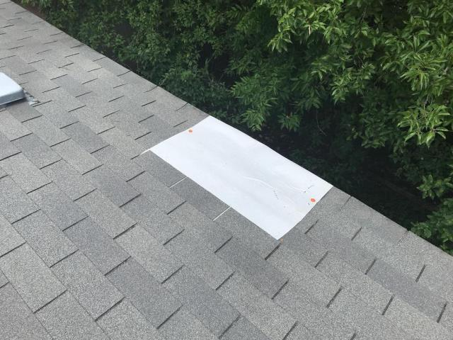 Leander, TX - Roof inspection for hole in roof. Shingles need repair. Emergency leak stop performed. Repair recommended and completed for homeowner in Leander Texas.