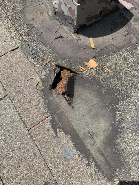 Austin, TX - Roof Repair needed on older home in downtown austin. Roof in need of proper attic ventilation per manufacturer recommendations. Other repairs needed at porch for active leaks. Roof repair completed for homeowner.