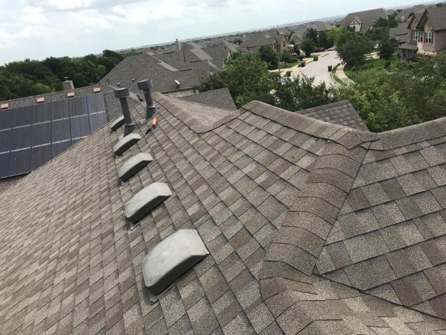 Round Rock, TX - Roof repair for leak at penetration in Round Rock Texas. Repair addressed and completed for homeowner. Roof inspection for entire roof provided as well.