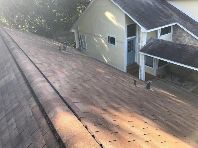 Round Rock, TX - Roof inspection and replacement for hail damage in Round Rock Texas. Homeowner selling and needing to replace roof before closing. We offered a 3-tab shingle from Certainteed in Moire Black.